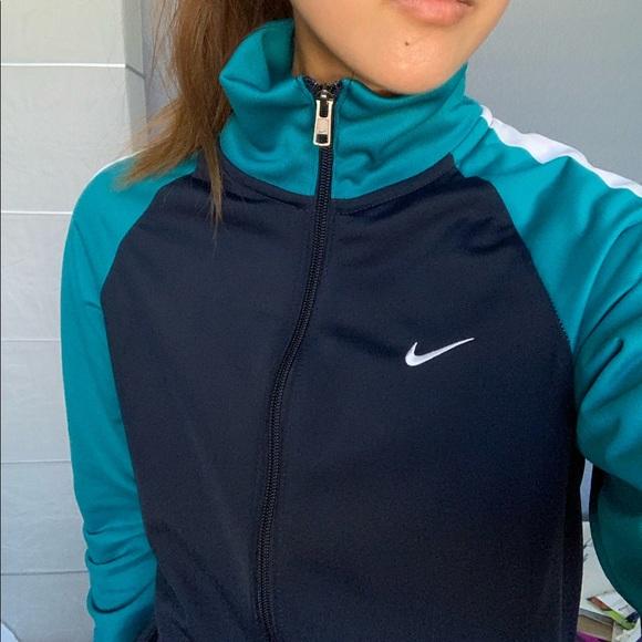 Nike Jackets & Blazers - Nike NWOT turquoise navy track jacket
